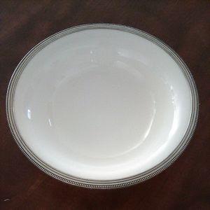 Arte Italica Handmade Serving Bowl Pewter rim